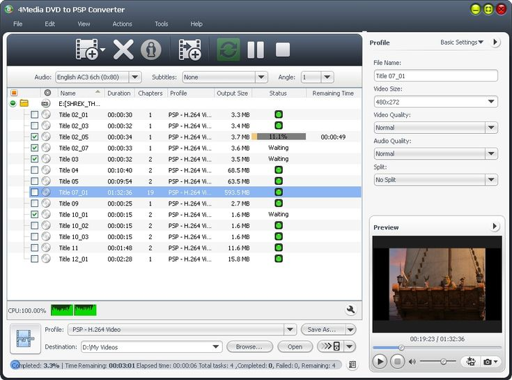 Buy 4Media DVD to PSP Converter 6.5.5.0426 with a 30% Discount Coupon Voucher Code - Our Price is Only $18.19!