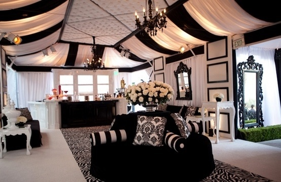 Black & White Wedding Reception Lounge.Ceilings Treatments, Black&Whit Wedding, White Lounges, Black White Weddings, Google Search, Receptions Lounges, Wedding Reception, Classy Black And White Parties, Lounges Area