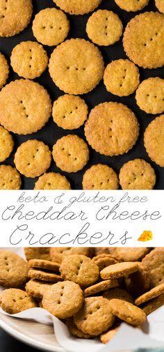 Gluten Free & Keto Cheddar Cheese Crackers #keto #ketosnacks #lowcarb #healthyrecipes