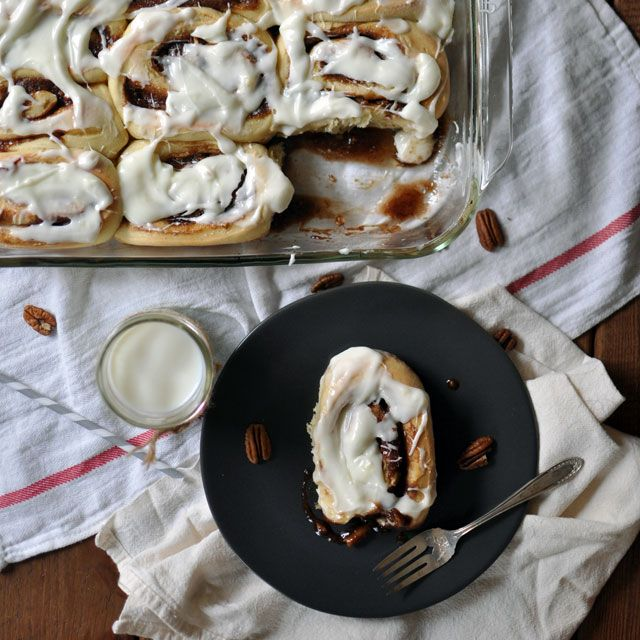 Overnight Cinnamon Rolls With Pecans And Cream Cheese ...