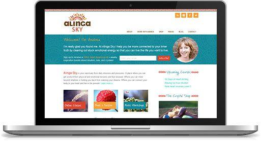 Alinga Sky Website: Custom Design + Development http://www.alingasky.com