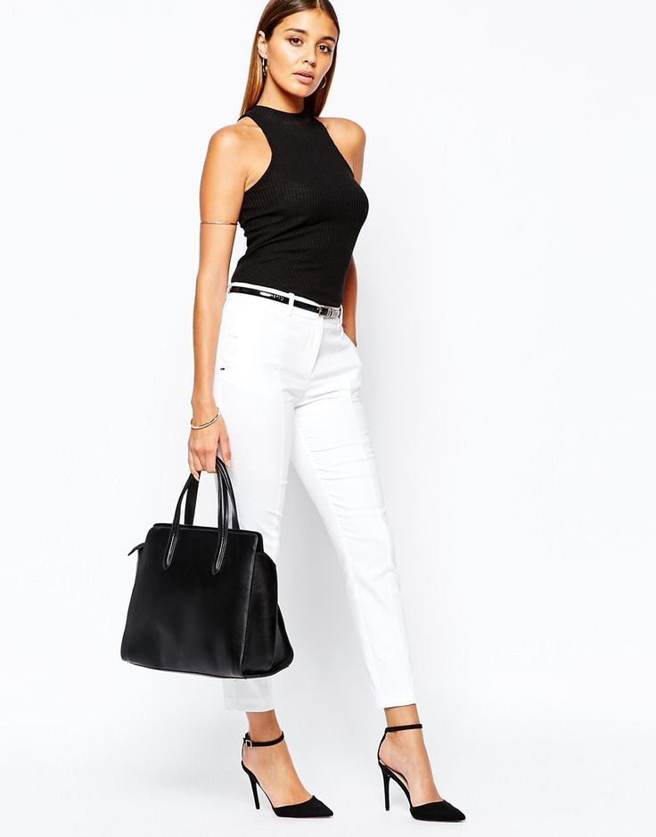 casual chic - white cigaret pants