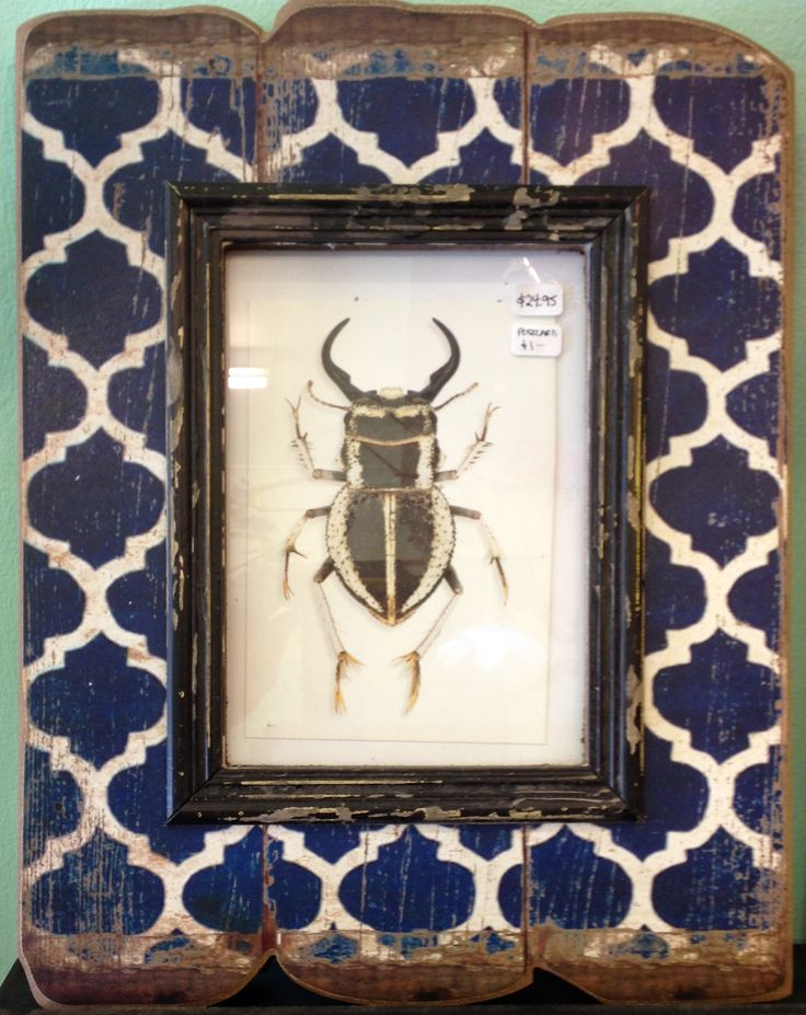 Gorgeous Moroccan inspired dark blue frame... this is an awesome one!