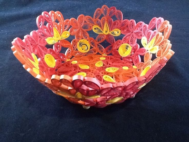 Paper quilled bowl- my own design