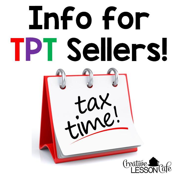 Teachers Pay Teachers Taxes - Info for Sellers | Creative Lesson Cafe
