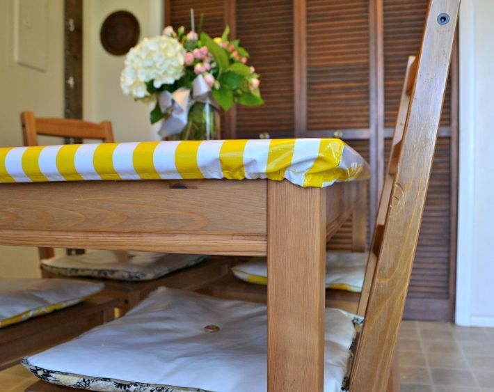 Learn how to sew a fitted tablecloth that doesn't move and can't be pulled off by little hands.