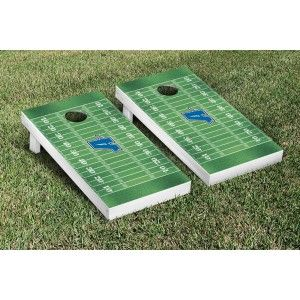 Assumption College Greyhounds Cornhole Game Set Football Field Version from TailgateGiant.com