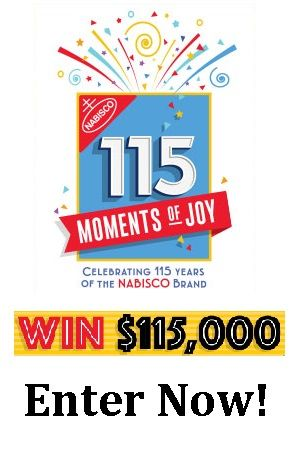 """Click the """"Snag This"""" linkdaily and enter code NABISCO115 for your chance to win! PRIZES: Grand Prize: $115,000. 115 First Prizes: A $1,150 check. This offer ends December 31, 2016. Good Luck! To buy other Nabisco products, shop on Amazon.com"""