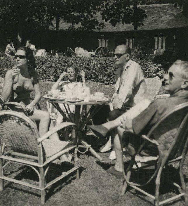 Curd Jürgens mit Regisseur Helmut Käutner, 3