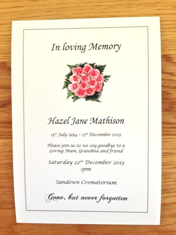 Image Result For Funeral Invitation Wording Funeral Bulletins