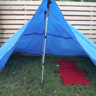Trekking pole Blue tarp tent | DIY | Pinterest