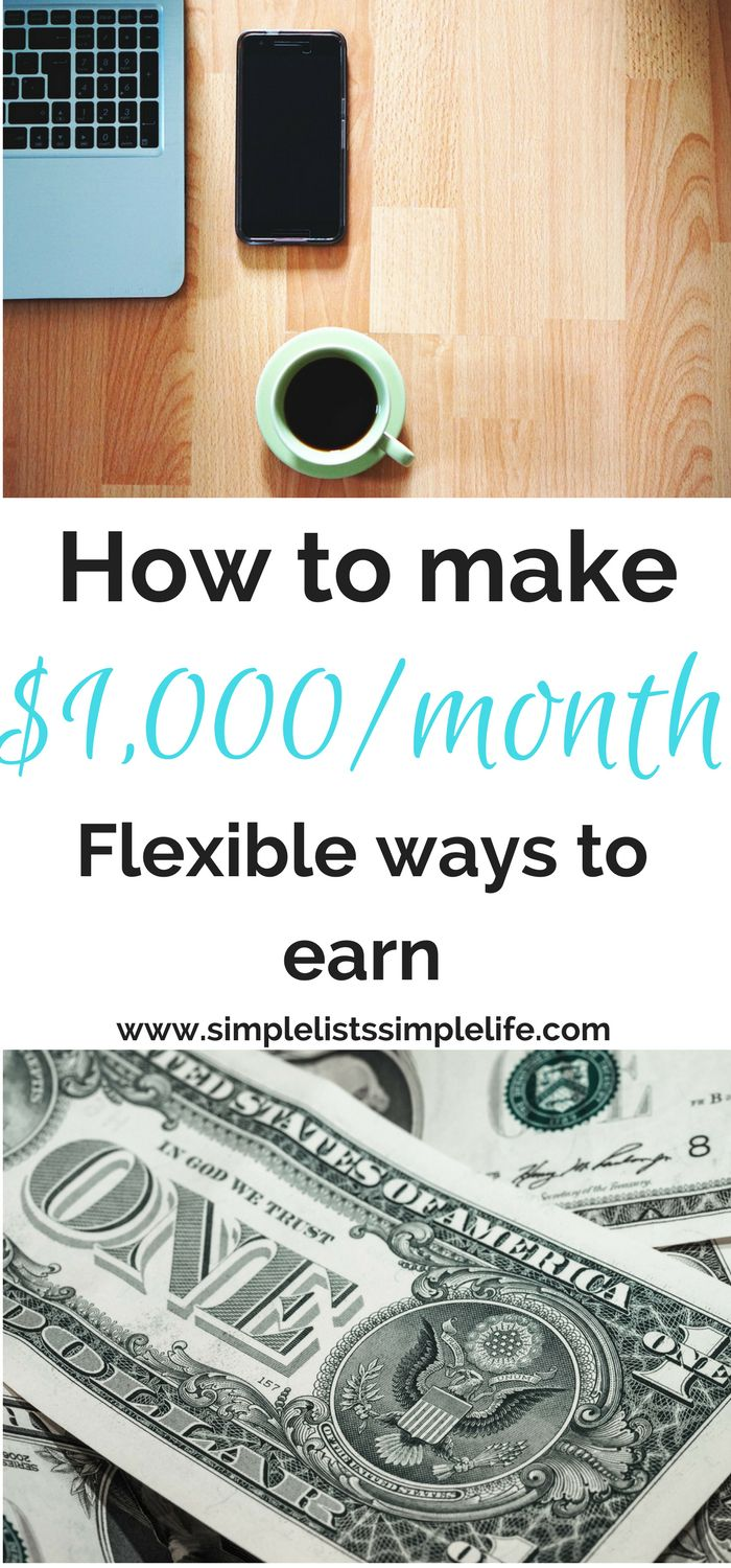 Flexible ways for people to make up to $1,000/month from home. Work from home during nap times. Some require very little effort, others need some effort to complete. But all will make you money.