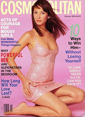 Christy Turlington Cover- Cosmopolitan Magazine February 1995