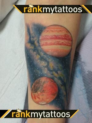 Jupiter mars and milky way tattoo tattoo ideas for Milky way tattoo