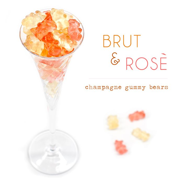 Champagne Gummy Bears, yum... someone please get these for me... maybe I should get them myself...