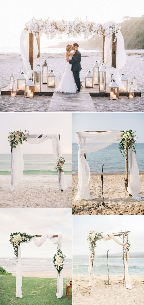 20 Stunning Beach Wedding Ceremony Ideas-Backdrops, Arches and Aisles