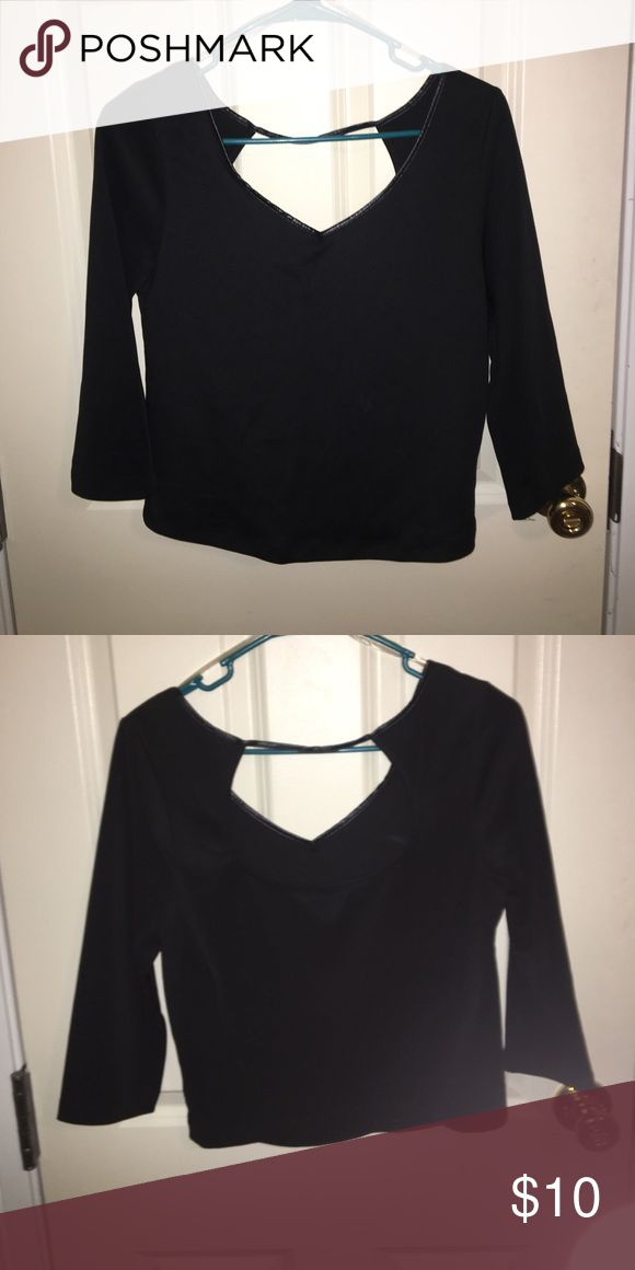 Black going out top Tight black crop top. Thick material. Open back. BONGO Tops Crop Tops