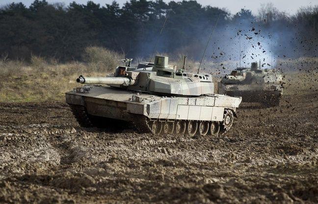 Entraînement avec un char Leclerc au Centre d'entraînement aux actions en zone urbaine, à Sissonne, le 29 novembre 2012. - A. GELEBART/20 MINUTES