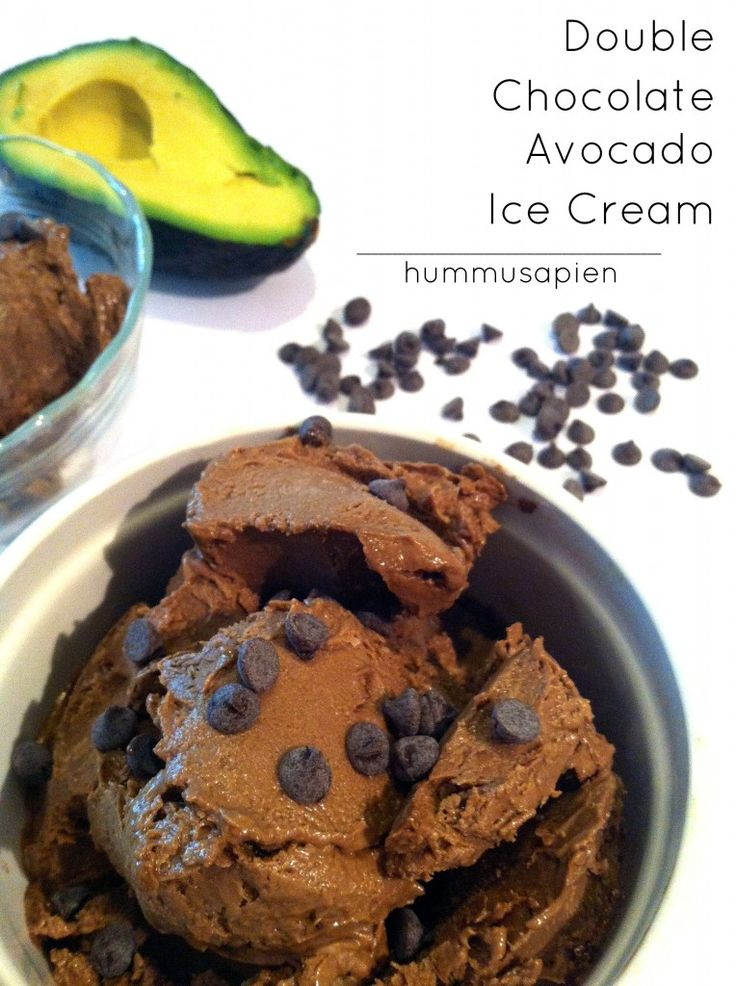 Chocolate avocado ice cream