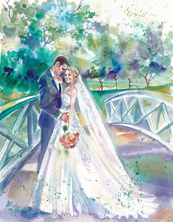 Свадебные акварельные картинки
