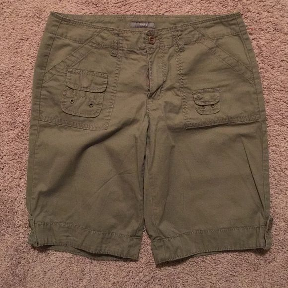 Apt 9 olive shorts In great condition shorts very cute. Not too long or short Apt. 9 Shorts