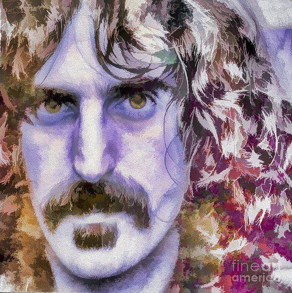 Frank Zappa Print by Eleni Mac Synodinos