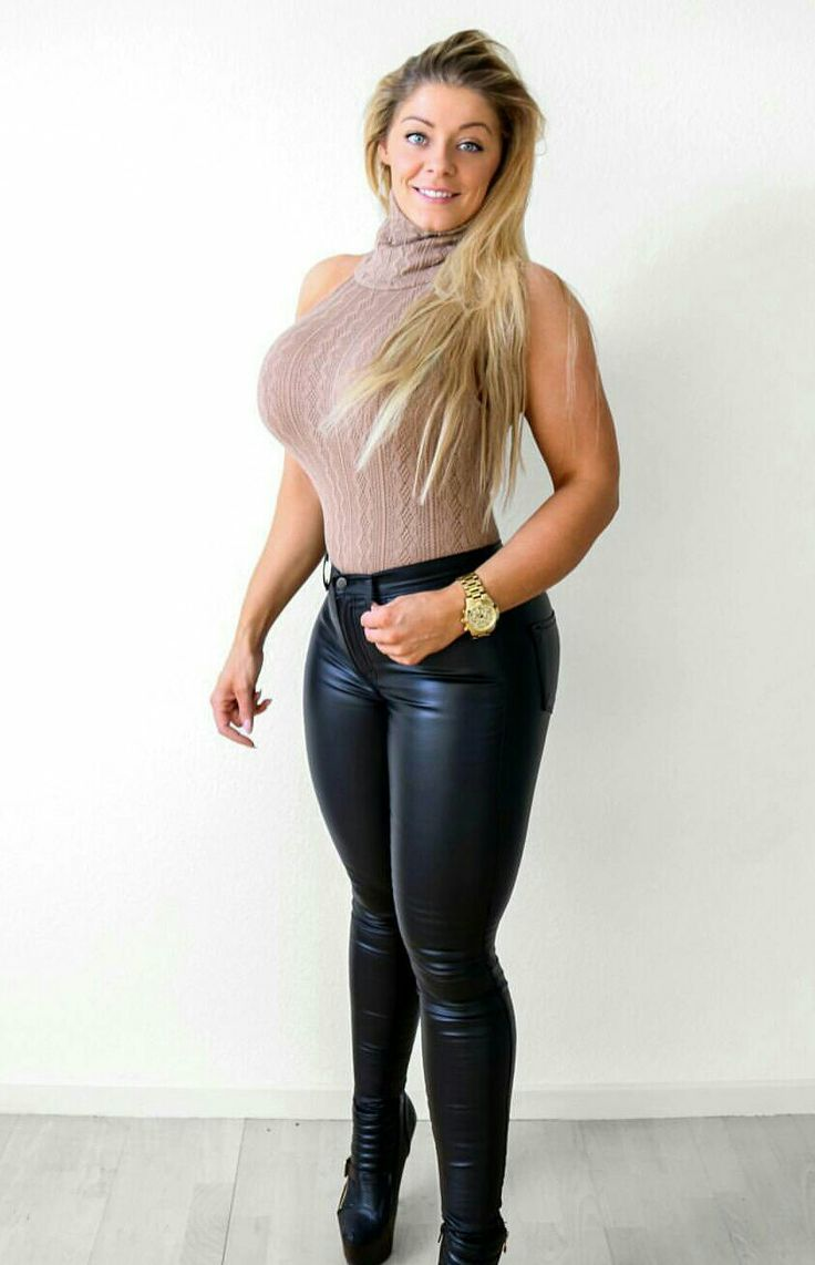 sexy teen in leather pants
