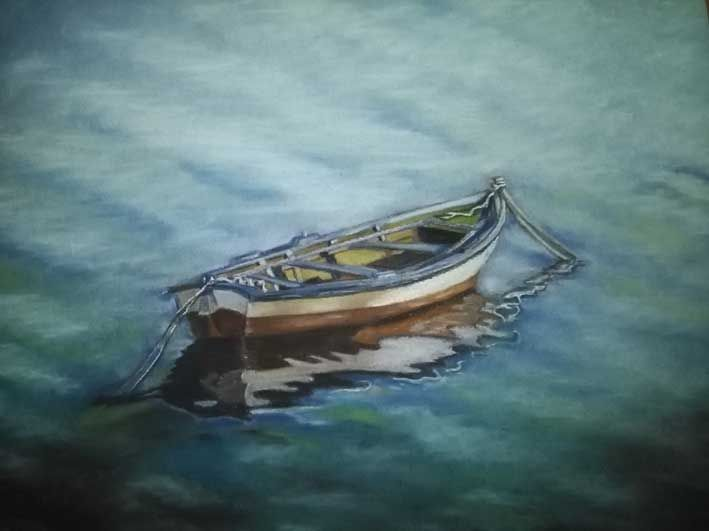 Barca2. Pintura pastel.