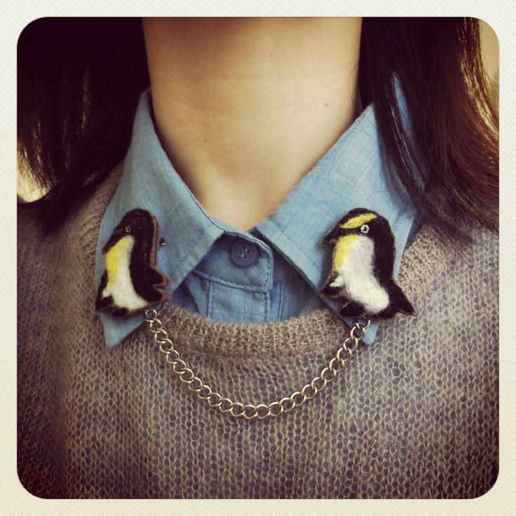 Felt, needlefelt , penguin, craft, accessory