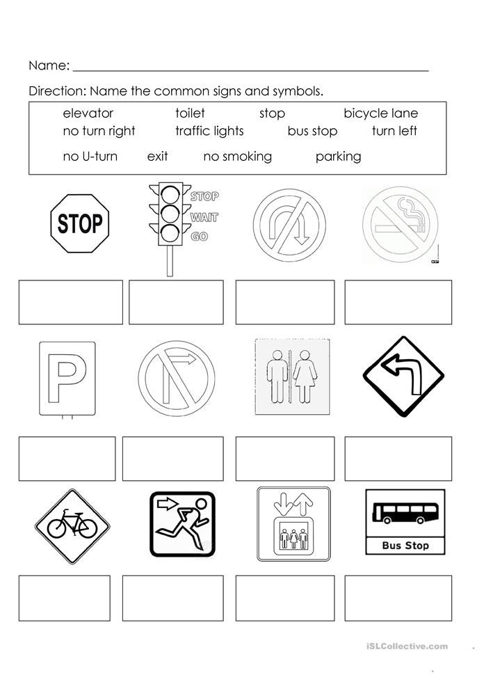 Signs And Symbols English Esl Worksheets For Distance Learning And Physical Classroo In 2020 Kindergarten Worksheets Map Worksheets Kindergarten Worksheets Printable
