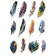 1.3*2.7in Cover scratches stickers Colorful feathers stickers for car (12pcs)01 – AUD $ 5.91