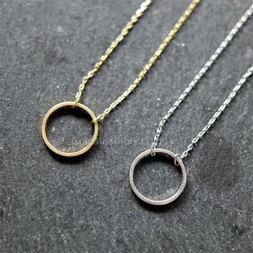 Circle Karma necklace, Infinity Circle Necklace simple gifts CK001