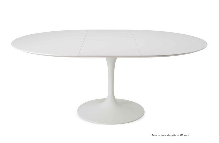 Tavolo allungabile Tavolo tulip da pranzo ovale o rotondo   con piano allungabile in Laminato E. Saarinen Mobili design | BAUHAUS RE EDITION