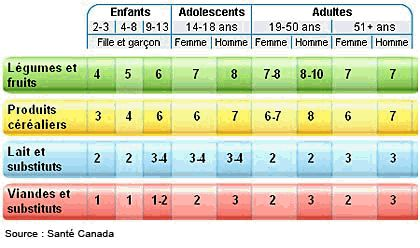 Guide alimentaire canadien : les fondements