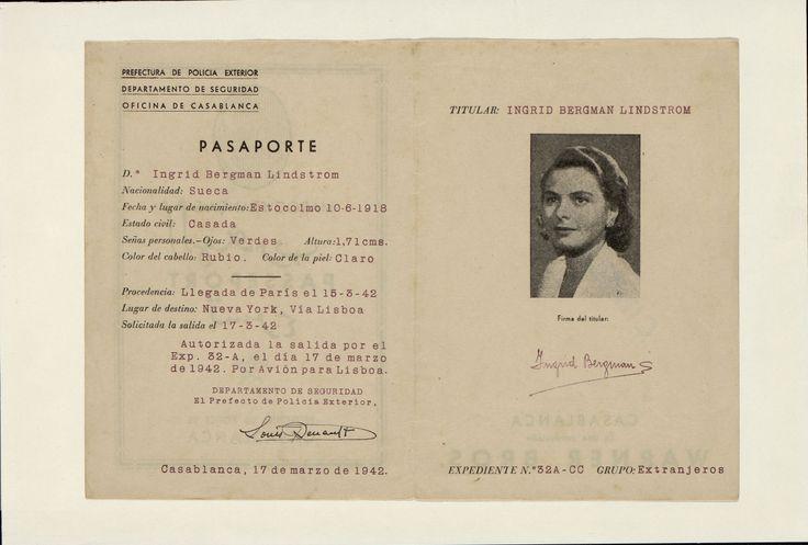 12.Casablanca (Paul Henried). Dirigida por Michael Curtiz. [1942]. #ProgramasdeMano #BbtkULL #Troquelados #DiadelLibro2014