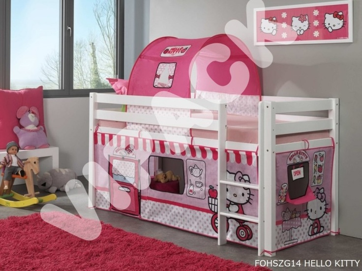 die besten 25 hallo kitty bett ideen auf pinterest. Black Bedroom Furniture Sets. Home Design Ideas