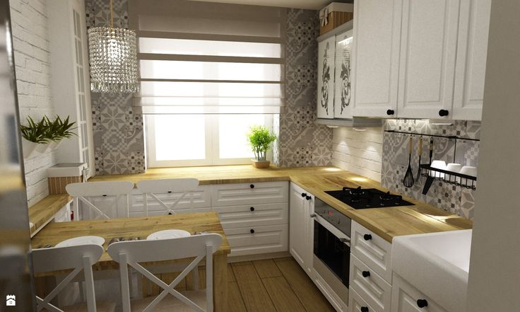Kuchnia styl Prowansalski - zdjęcie od Grafika i Projekt - Kuchnia - Styl Prowansalski - Grafika i Projekt