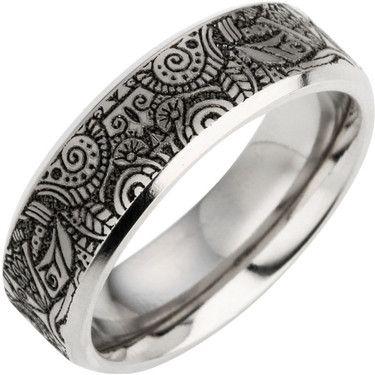Perfect Wedding Rings Direct TNM Beautiful laser engraved titanium ring