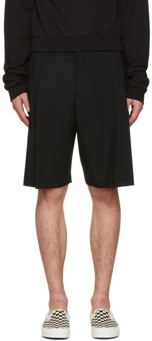 McQ Black Kilt Shorts