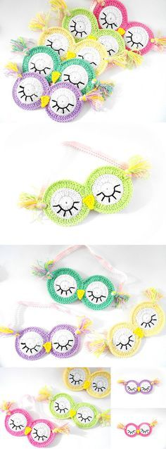 Crochet sleeping masks Sleepy Owl