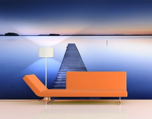 Selbstklebende Tapete Vlies : Selbstklebende Tapete – Fototapete Flu?steg bei #Sonnenuntergang #