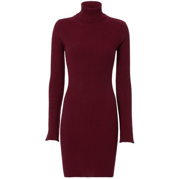Autumn Cashmere EXCLUSIVE Pinot Ribbed Turtleneck Dress ❤ liked on Polyvore featuring dresses, ribbed turtleneck, purple dress, ribbed turtleneck dress, long purple dress and long-sleeve turtleneck dresses
