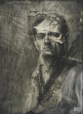 """Frank Auerbach, """"Self Portrait"""""""