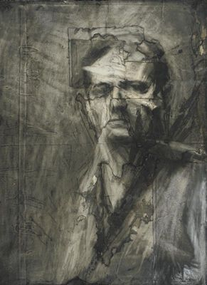 "Frank Auerbach, ""Self Portrait"": Auerbach Frank, Auerbach Charcoal, Artists, Selfportraits, Self Portraits, Google Search, Frank Auerbach Drawings, Portraits Art, Paper Collage"