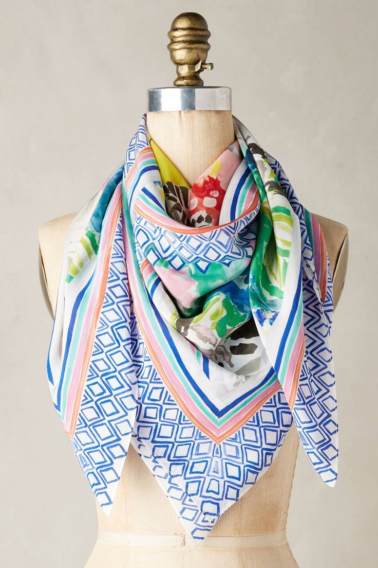 Slide View: 1: Brasilia Silk Scarf