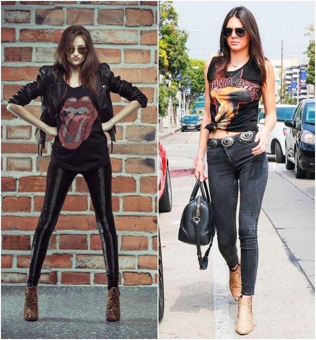 Looks estilosos com pegada rocker e calça sknny