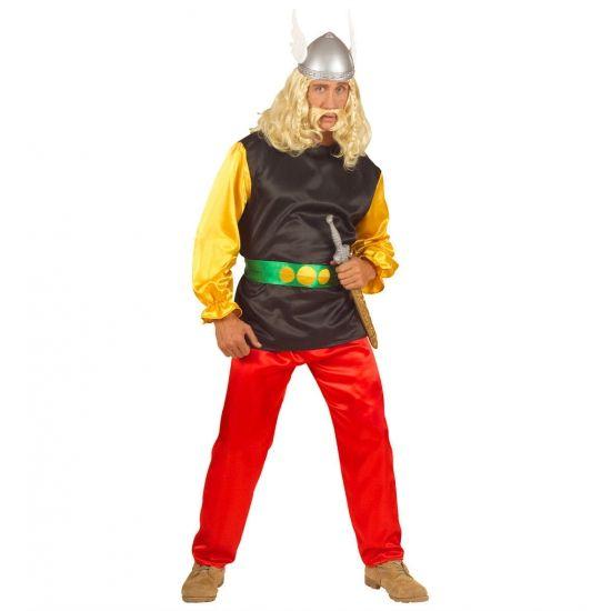 Carnavalskostuum Gallie  Gallier kostuum Achterix. Compleet met geel/zwart shirt rode broek en riem.  EUR 34.95  Meer informatie