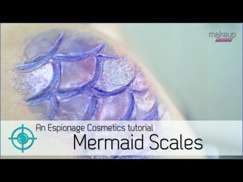 Mermaid Scales Tutorial   Makeup Marvels - YouTube