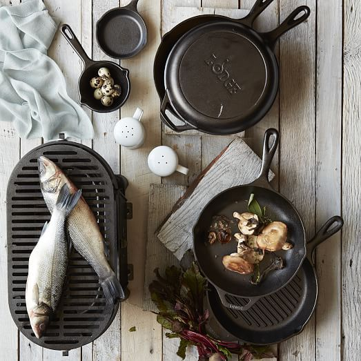 Lodge Cast Iron Grill Pan & Combo Cooker