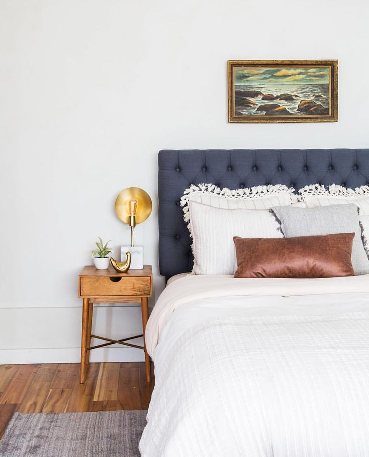 Taupe And Blue Bedroom Bedroom Makeover Minimalist Bedroom Blue Bedroom Side Tables: 25+ Best Ideas About Blue Headboard On Pinterest